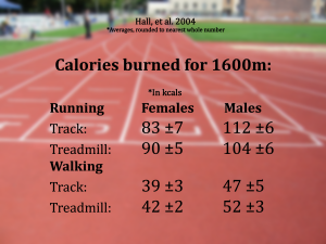 running walking calories burned