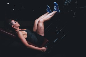 female leg press exercise