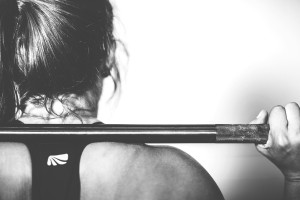 female squat barbell